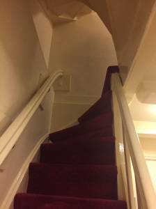 Going up is more like climbing a ladder than stairs
