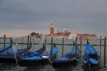 Gondolas with San Giorgio Maggiore in the background