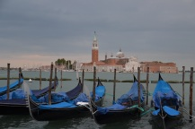 Gondolas with San Giorgio Maggiore in the background