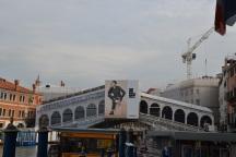 Rialto Bridge - being restored