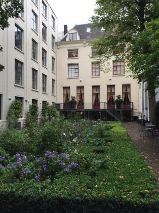 Garden in a center courtyard