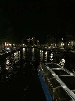Canal cruise at night