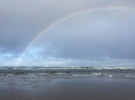 Rainbow over the Pacific