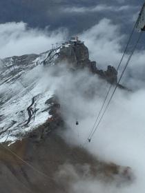 Alpine gondola lift between Shiltorn & Birg