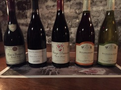 Wines at our tasting