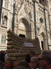 Chianti wagon at the Duomo
