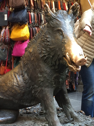 Boar -- rub his nose for good luck