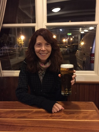 Erin's surprise pint instead of glass