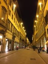 Florence street at night