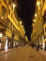 Florence street at night
