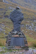 Cross memorial on the Famine Road in the Doo Lough Valley
