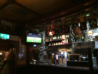 Watching the Ireland & Argentina rugby match in a pub in Galway