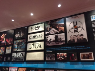 U2 exhibit at The Little Museum of Dublin