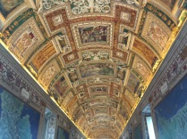 Ceiling in the hall of maps at the Vatican