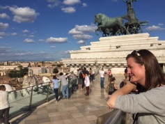 On top of the Victor Emmanuel Monument