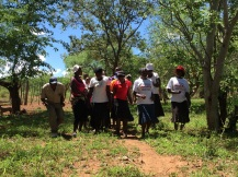 Villagers singing and dancing