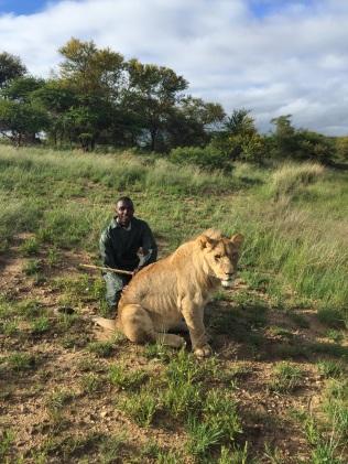 Bheki with Africa