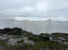 In the spray of Victoria Falls