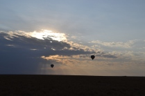 Balloon rides at sunrise