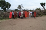Masai men with our group