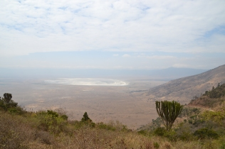 Salt lake on the crater floor
