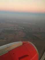 Victoria Falls from above, in center of photo
