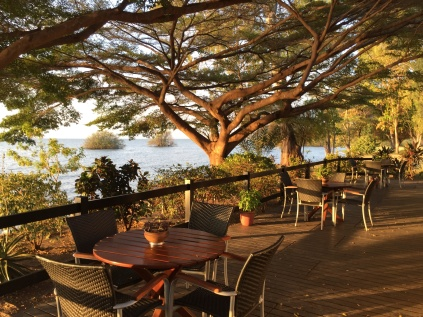 Lovely deck on the shore of Lake Victoria