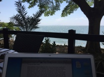 My view while writing this
