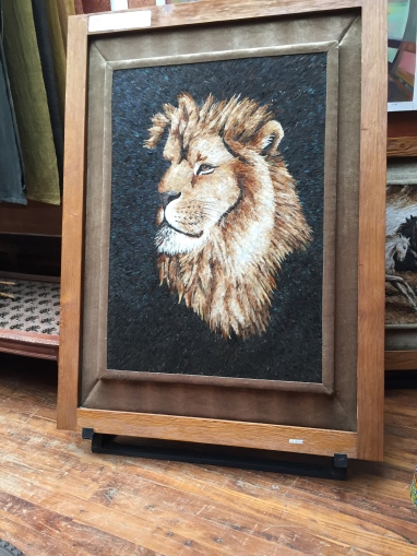 Stunning art made entirely with feathers. Also $22,000.