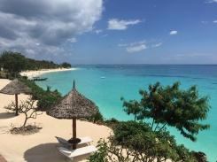 Beachfront of resort