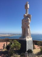 Cabrillo Monument with San Diego in the background