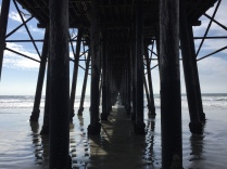 Under the Oceanside pier