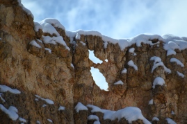 Detail of erosion in action