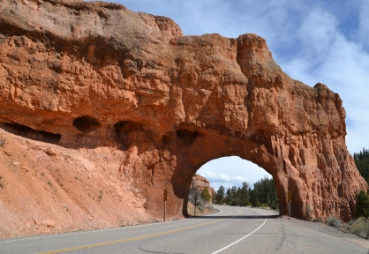 Drive-thru tunnel in Red Canyon