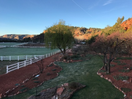 Early morning view from the Visitor Center