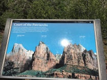 Sign showing the peaks