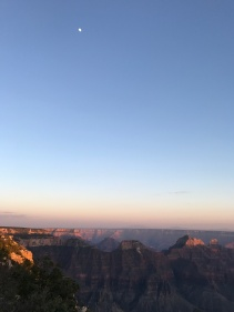 Moonrise over the canyon