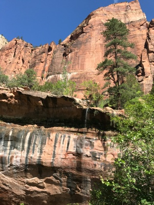 Little waterfall above the Emerald Pools
