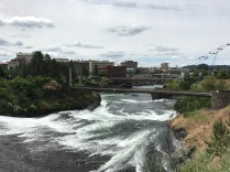 Spokane River through downtown