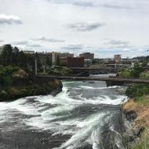 Spokane River through downtown