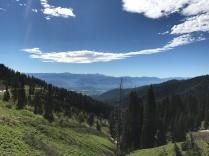 From the mountain pass looking toward Jackson Hole
